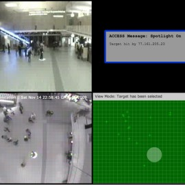 ACCESS in the Eindhoven's train station as part of GLOW, Eindhoven, Netherlands, 2009 | Screenshot of the web interface